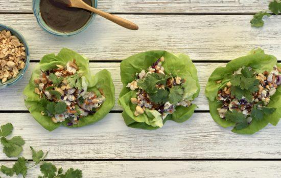 Vegetarian Tofu Lettuce Cups