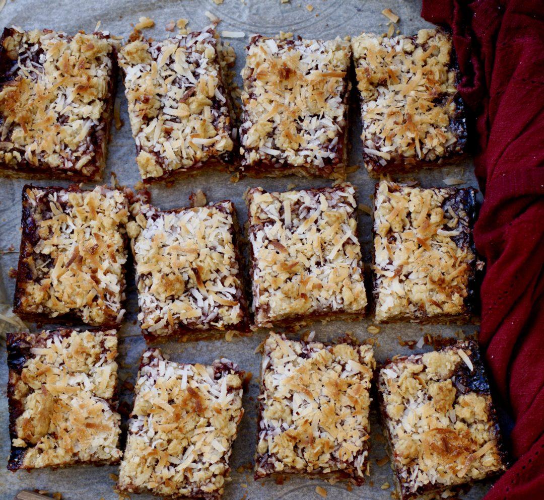 Raspberry Oatmeal Coconut Bars, Maybe Even For Breakfast Tomorrow?