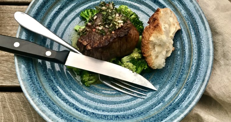 Pan-Seared Filet With Chimichurri Sauce Makes The Perfect Match