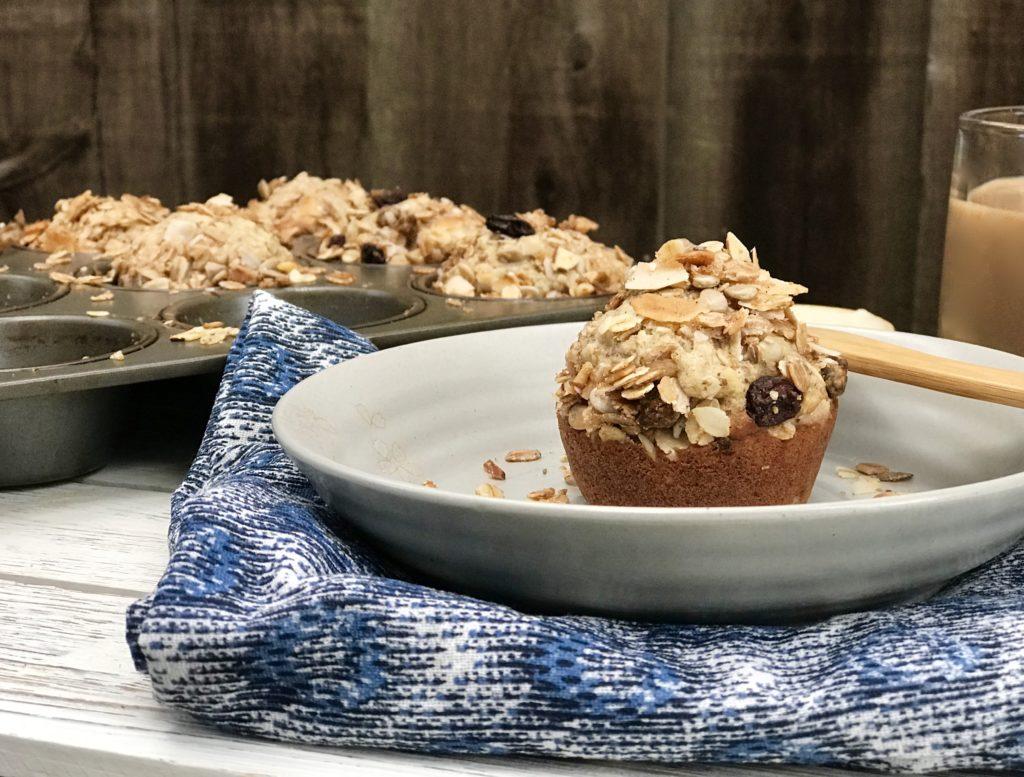 banana muesli muffins