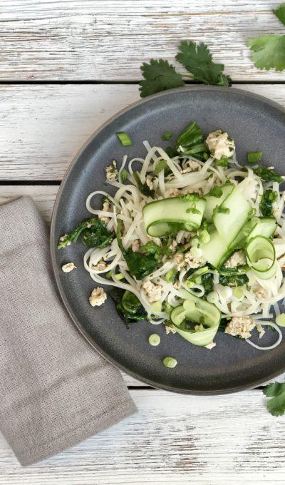 Pork & Rice Noodle Sauté With Lemongrass And Cilantro