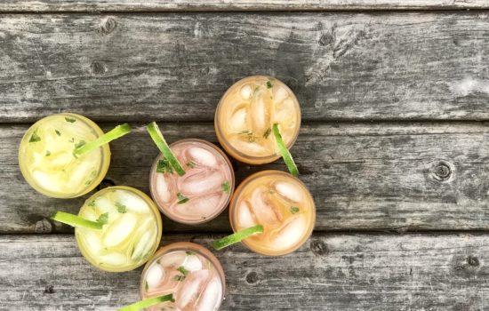 Agua Fresca Three-Ways: Pineapple, Strawberry-Cantaloupe And Peach-Mango
