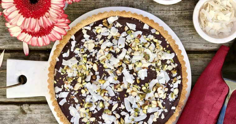 A Coconut-Chocolate Almond Tart That Is Gluten Free