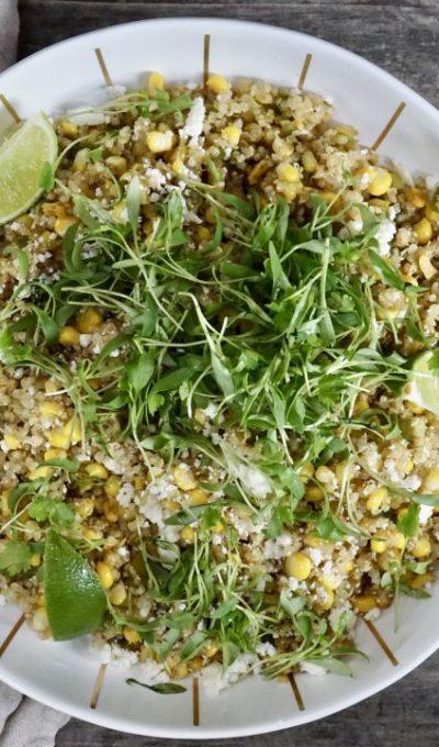 Quinoa, Corn And Roasted Poblano Succotash