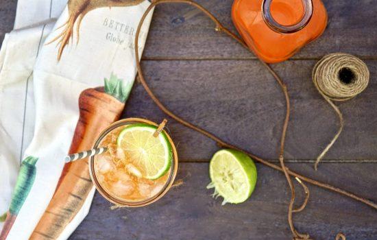 Sparkling Orange-Carrot Mocktail