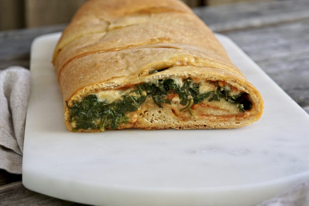 Whole Wheat Spinach Stromboli