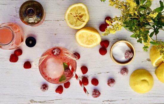 Raspberry Vodka Lemonade Cooler