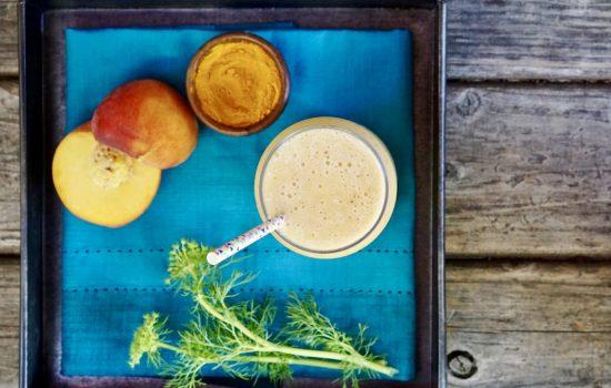 Dairy-Free Pineapple-Peach Turmeric Smoothie