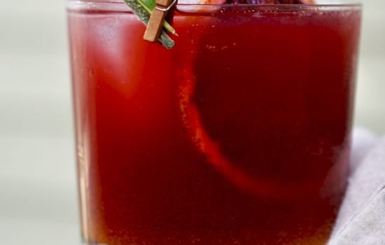 Blood Orange-Pomegranate Mocktail