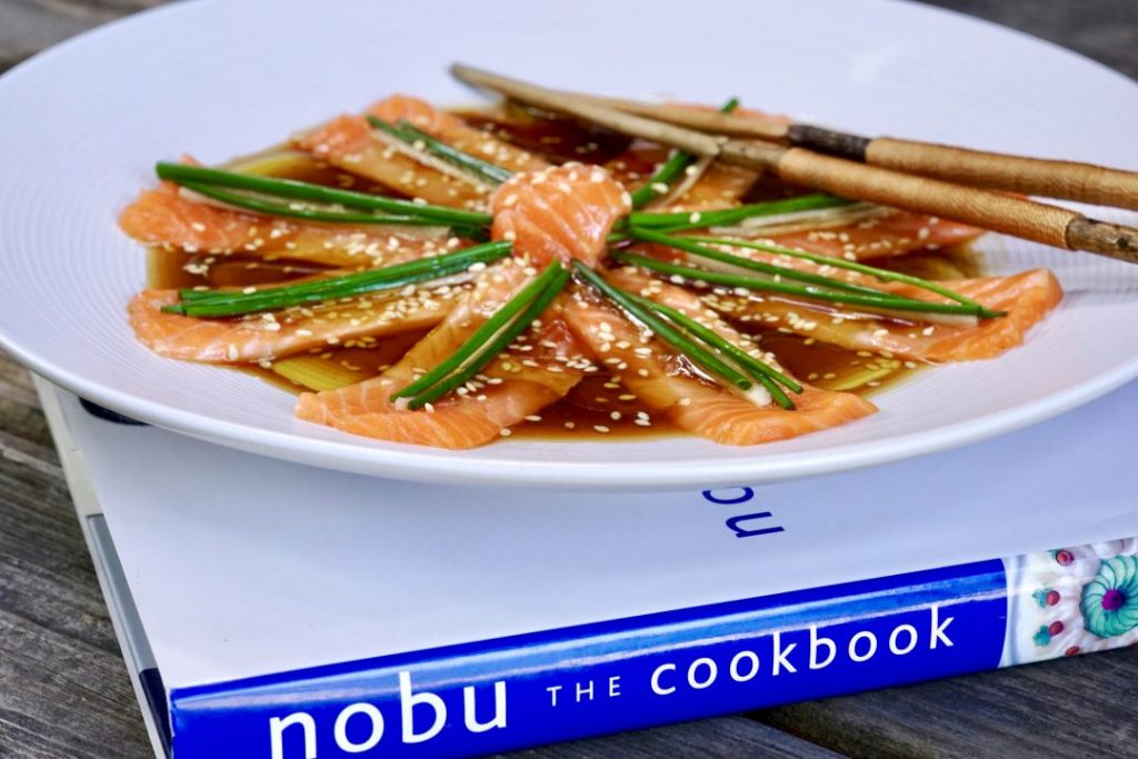 new style salmon sashimi
