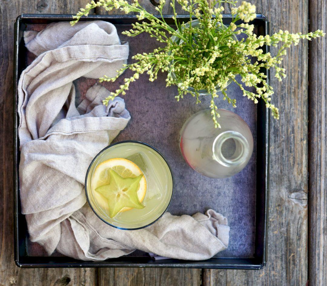 "Sake + Starfruit ""Caipirinha"" Cocktail"