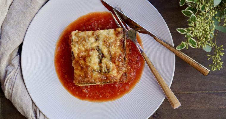 "Baked Zucchini ""Noodle"" Lasagna"
