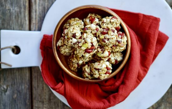 Whole Grain Cranberry Nut Energy Bites