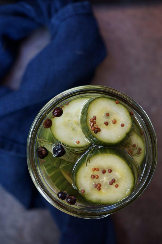 Scandinavian pickled cucumbers