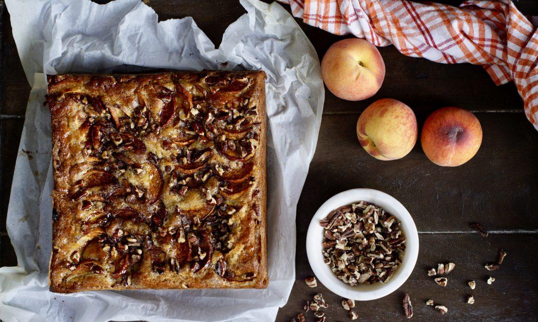 Peach-Pecan Snacking Cake