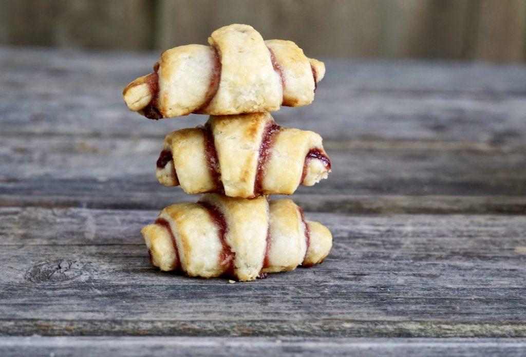 chocolate-raspberry walnut rugelach