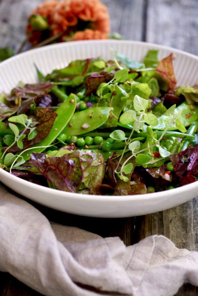 chard and green bean salad