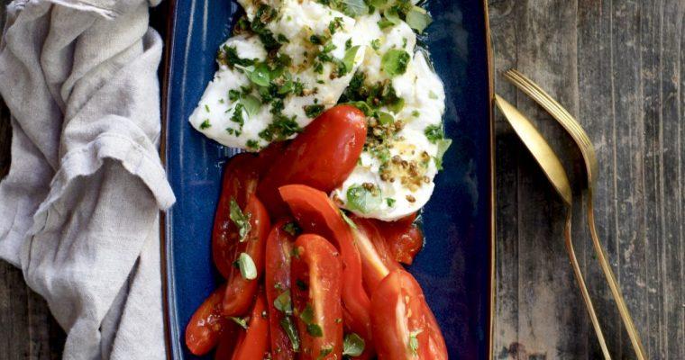 Marinated Mozzarella And Tomatoes