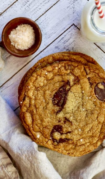 Giant Brown Butter Chocolate Chip Cookies