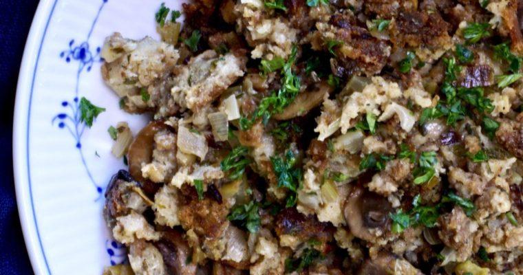 Thanksgiving Mushroom-Sausage Stuffing