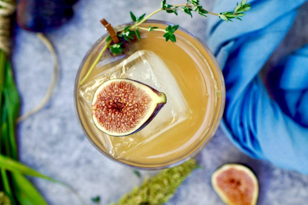 Fall smash cocktail