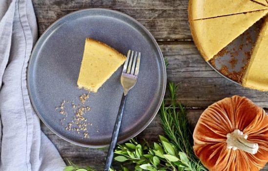Pumpkin Cheesecake With A Pretzel-Graham Cracker Crust