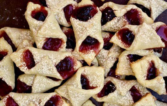 Cherry Kolaczki (Polish Christmas Cookies)