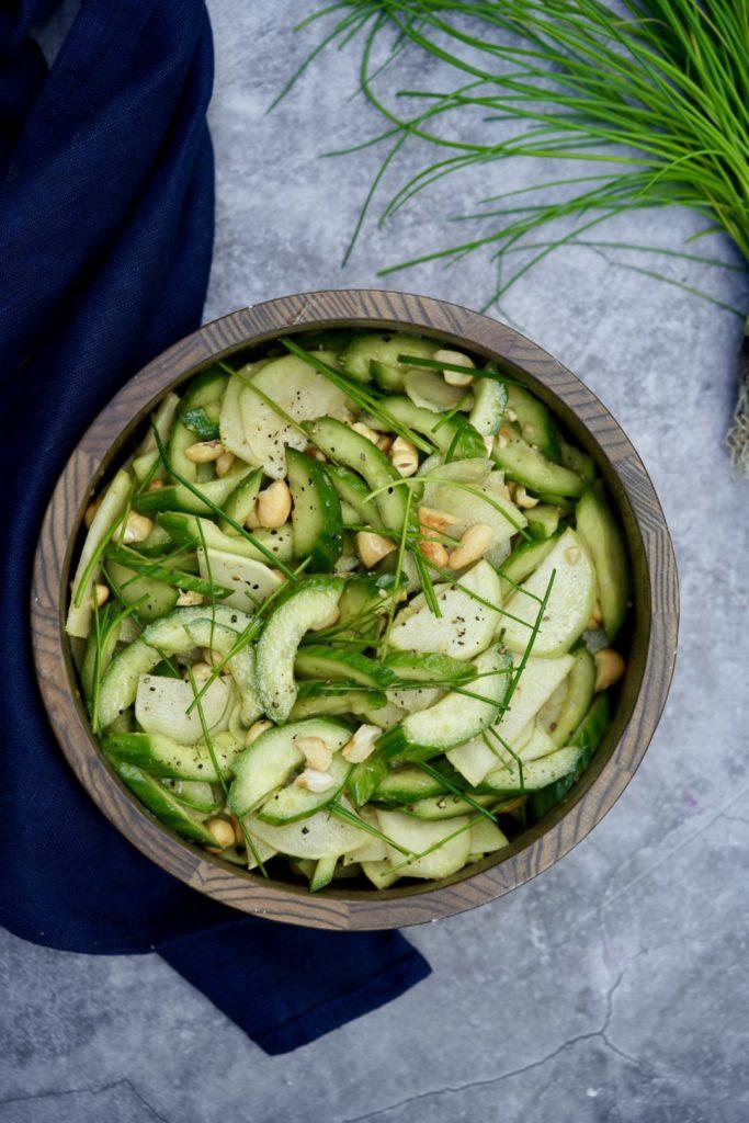 cucumber and kohlrabi salad