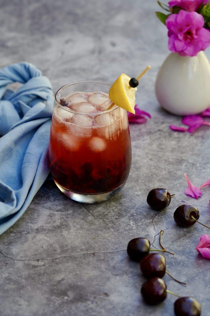 cherry sake and soda