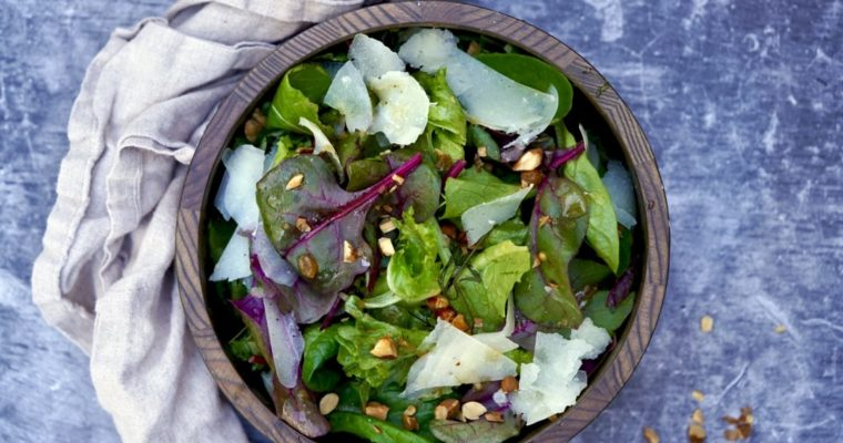 Baby Greens With Manchego And Quince Vinaigrette
