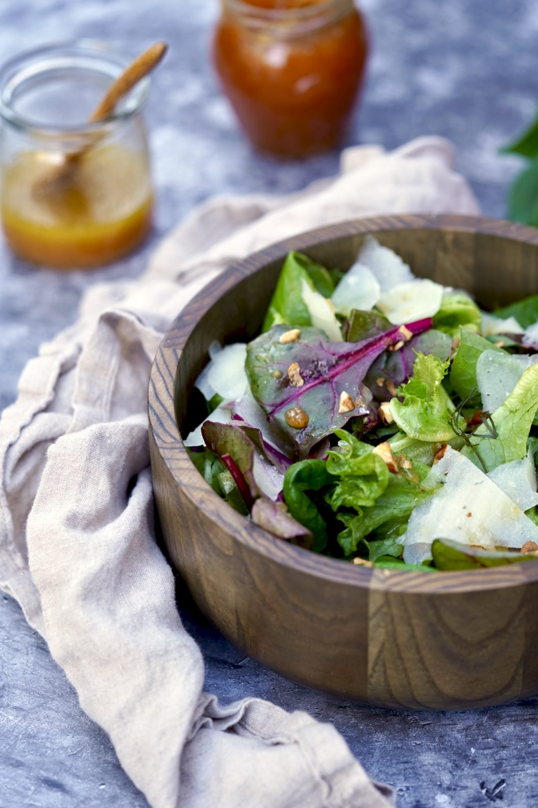 baby greens with manchego
