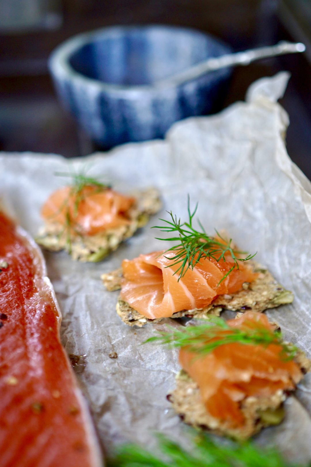 Scandinavian style cured salmon
