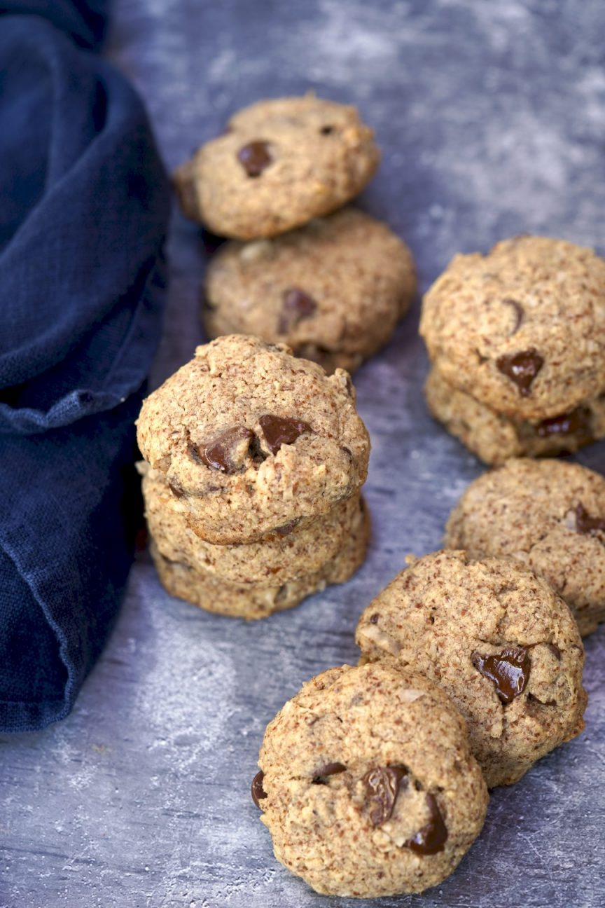 Almond Meal Cookies with Chocolate + Coconut