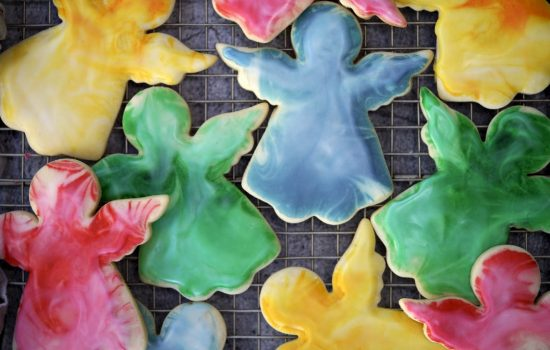 Marbled Christmas Cut-Out Cookies