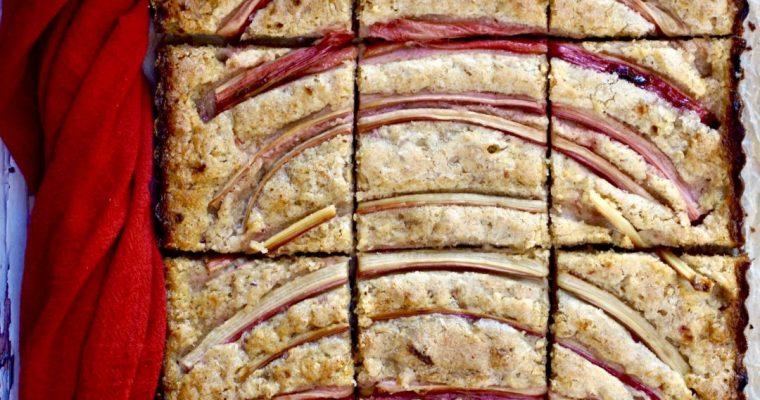 Rustic Rhubarb-Almond Snacking Cake