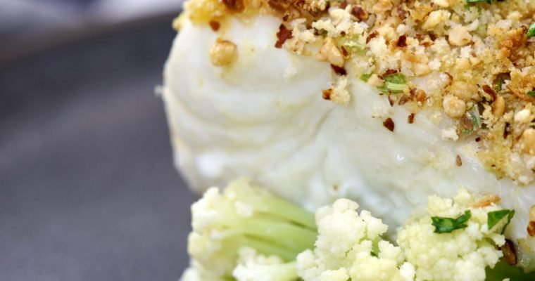 Crispy Almond Crusted Baked Ling Cod