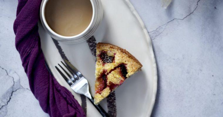 Polenta Plum Cake