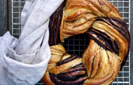 Braided Cocoa And Peanut Butter Brioche