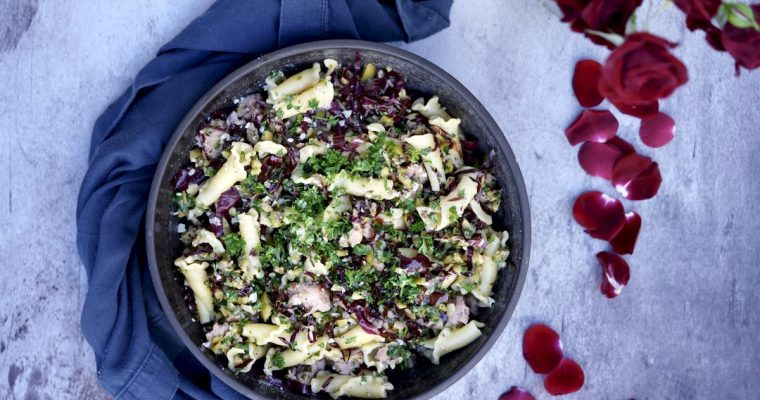 Campanelle Pasta With Sausage And Green Olives