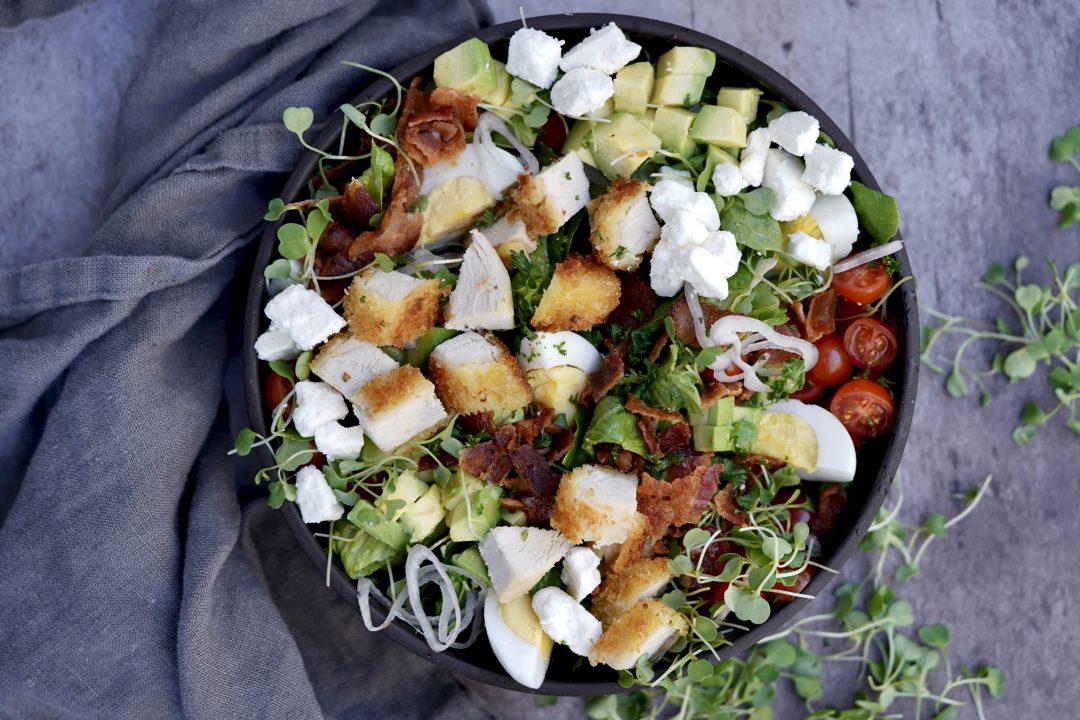 Crispy Chicken Cobb Salad With Buttermilk Dressing