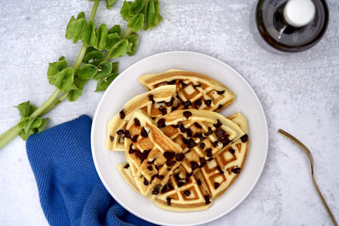 Mochi Chocolate Chip Waffles