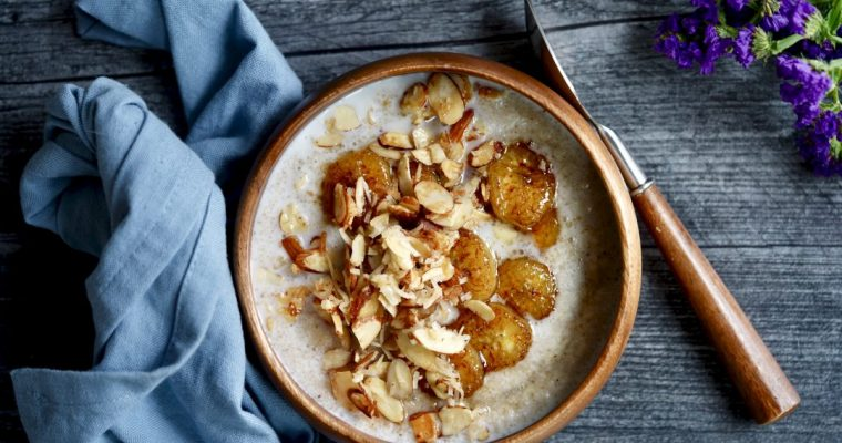 Creamy Fonio Cereal With Caramelized Bananas